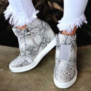 Snake Skin Print Sneakers